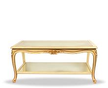 Table basse celia double plateau verre bois balcaen - Table basse double plateau en verre ...